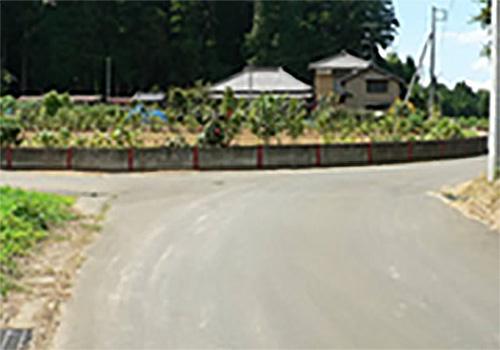 この三叉路が最初は的中とされた