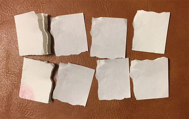 この時点で紙片はこんな感じ