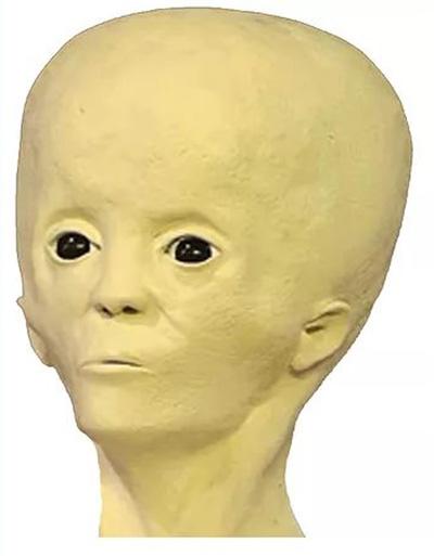 のちに復元されたスター・チャイルドの顔