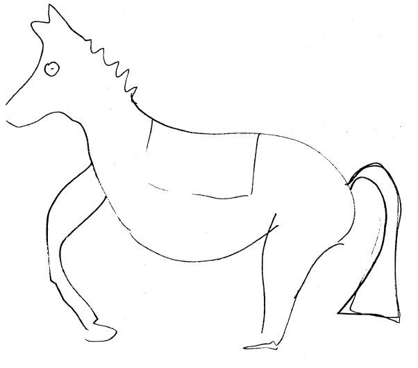 ゲラーは透視して馬の絵を描いた。(CIA文書より)